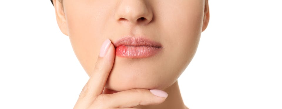 Clear bump on lip