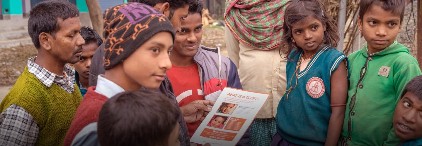 A group of people learning about cleft