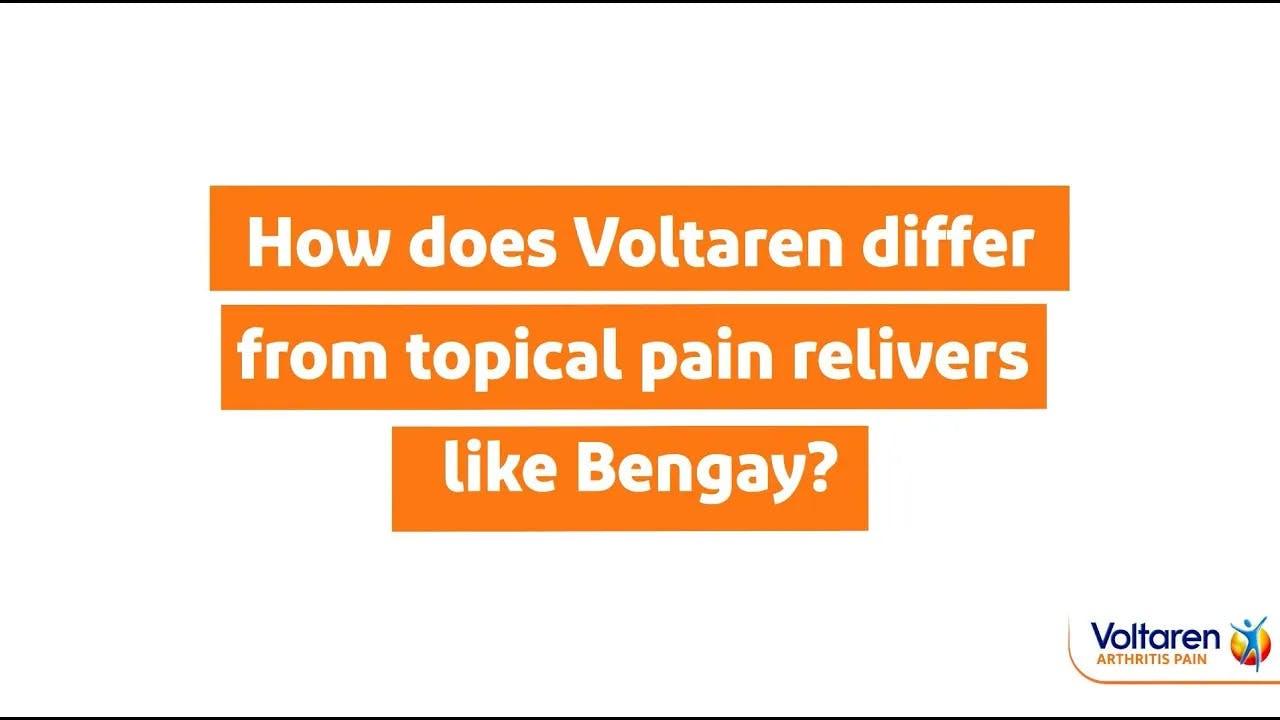 Voltaren Arthritis Pain Gel Voltaren vs. Bengay: What's the Difference? | Voltaren