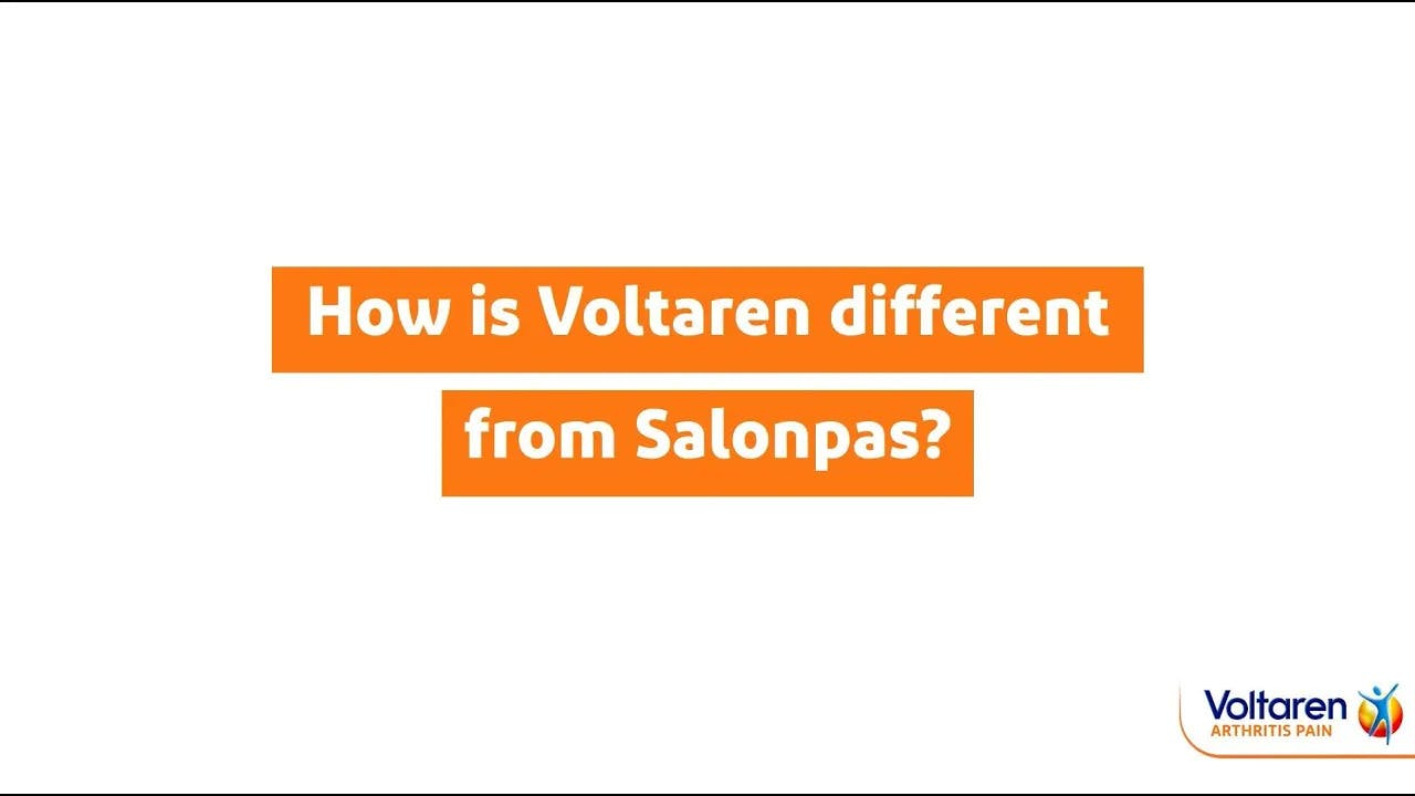 Voltaren vs. Salonpas: What's the Difference? | Voltaren