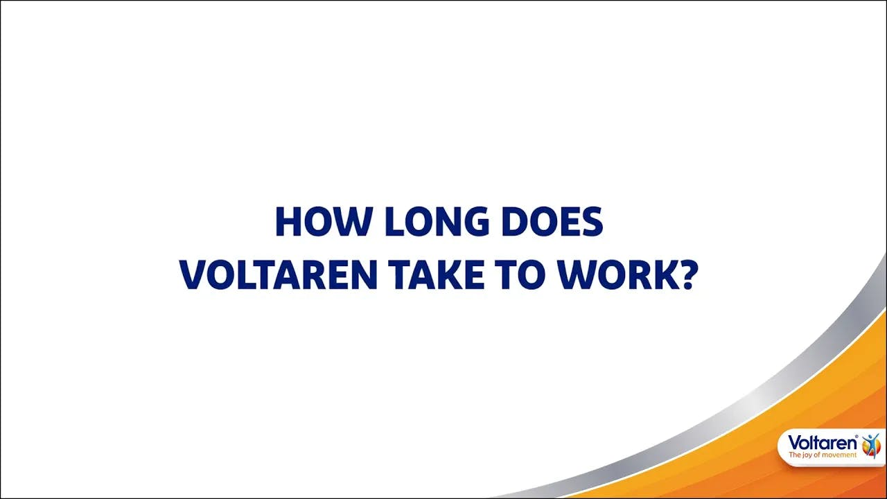 How Long Does it Take Voltaren to Start Working?
