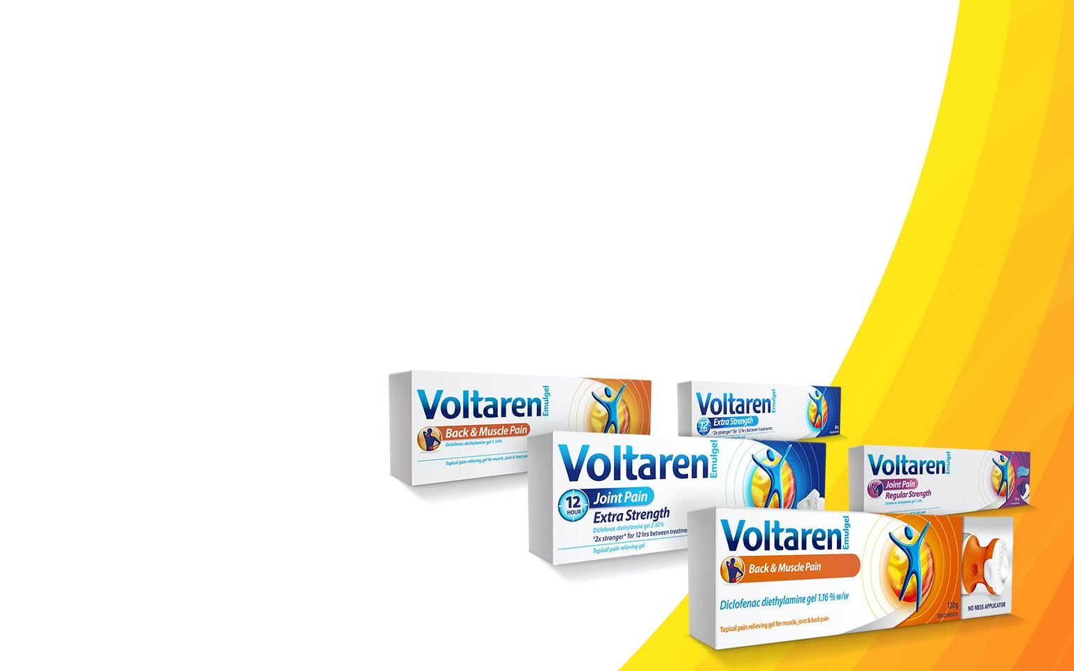 Three boxes of Voltaren Emulgel