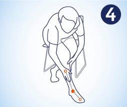 Realizar masaje en el tobillo