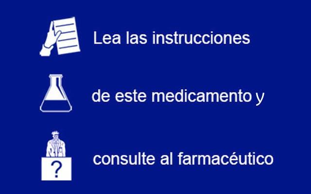 Consejos sobre el medicamento. Imagen pie móvil