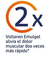 Voltaren Emulgel alivia el dolor muscular dos veces más rápido**