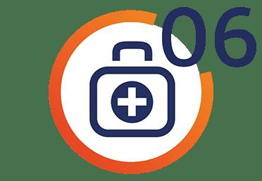 Ikona przedstawiająca apteczkę pierwszej pomocy