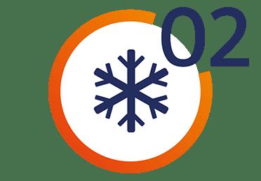 Ikona przedstawiająca chłodzenie