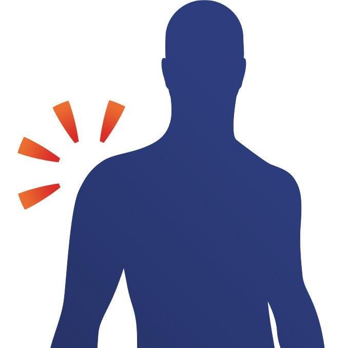 Ont i axel kan lindras med övningar och läkemedel.
