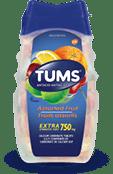 TUMS Extra-fort, fruits assortis, flacon de 100 comprimés