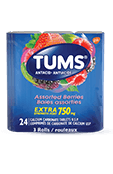 TUMS Extra-fort, baies assorties, emballage de 3 rouleaux