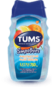 TUMS Smoothies, fruits assortis, flacon de 60 comprimés