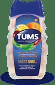 TUMS Ultra-fort, fruits assortis, flacon de 72 comprimés