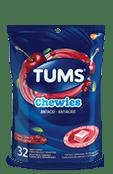 TUMS Chewies, très cerise, sac de 32 bouchées tendres