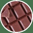 Gros plan de morceaux de chocolat