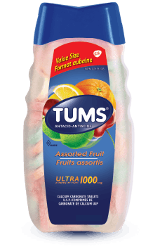 Bottle of Tums® Ultra Strength Assorted Fruit - 160 count