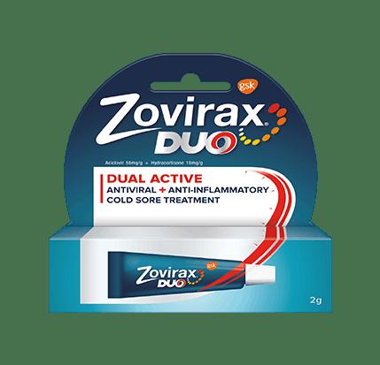 Zovirax Duo cold sore cream package