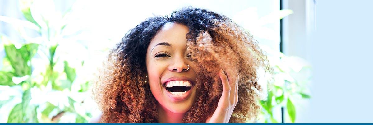 Woman Laughing Quit Smoking