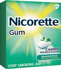 Box of Nicorette Gum in fruit Chill flavor