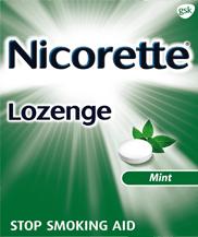 Nicorette Lozenge in Mint Flavor
