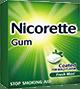 Box of coated Fresh Mint Nicorette gum