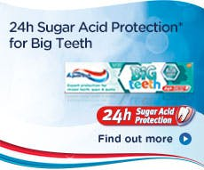 Big teeth and sugar acid protection toothpaste