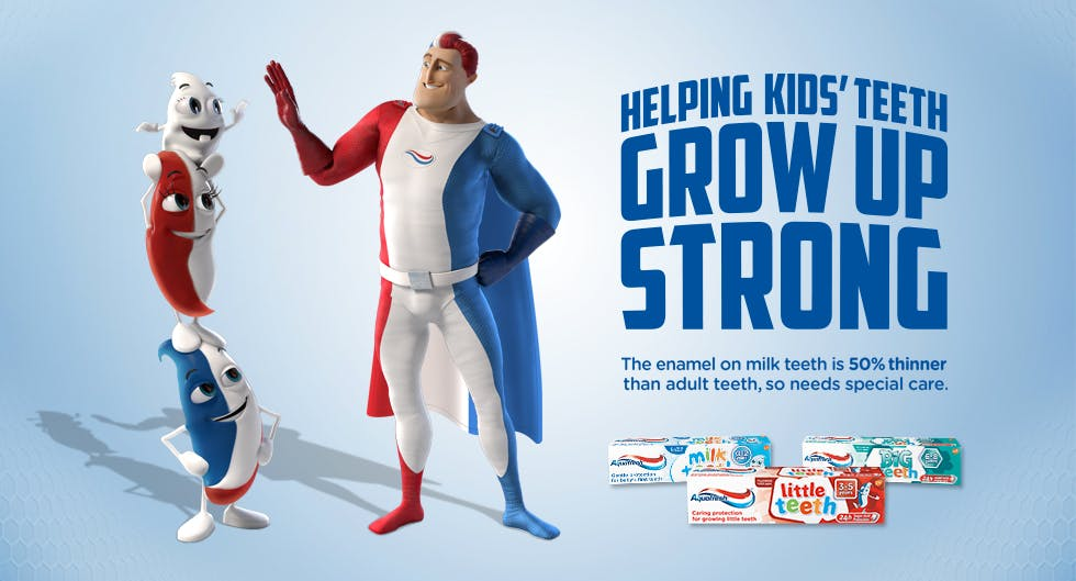 Aquafresh kids expert care for healthy teeth