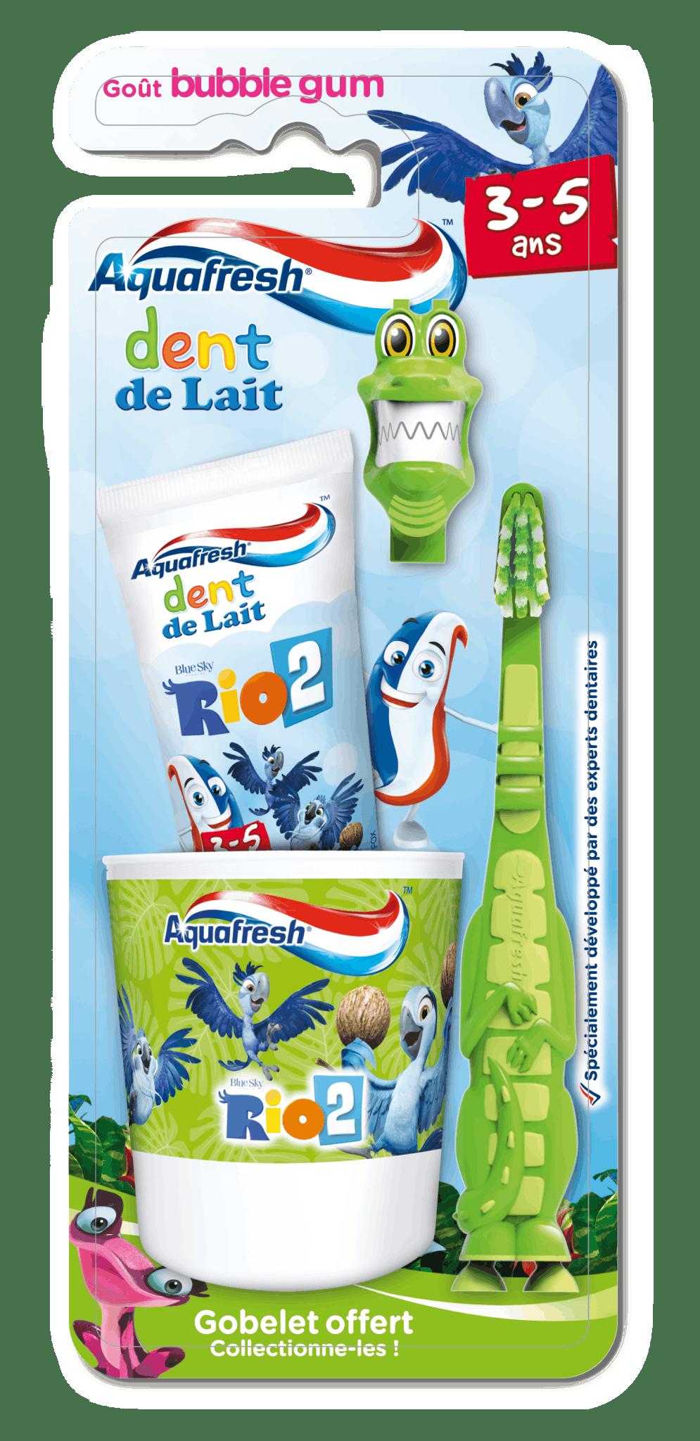Kit de brossage dents de lait 3 à 5 ans