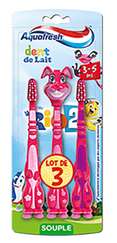 Brosse à dents dents de lait 3 à 5 ans