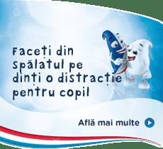 Faceţi din spălatul pe dinţi o distracţie pentru copil.