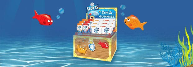 New Scott's DHA Gummies filled with DHA.